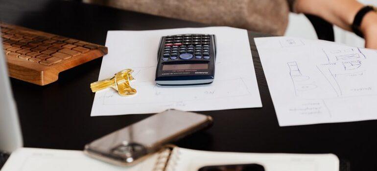 calculator on a few spreadsheets