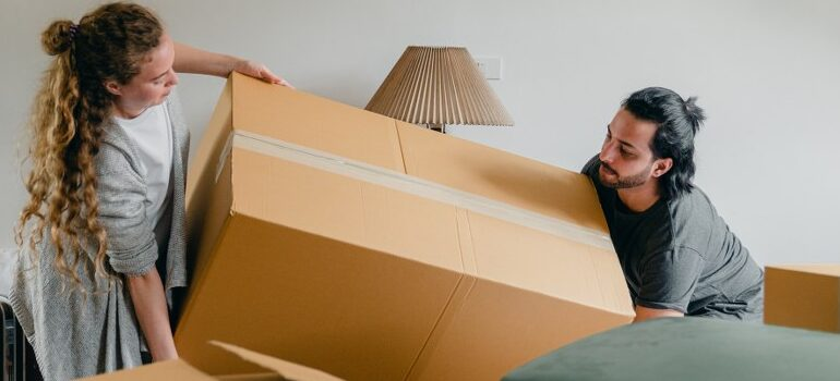 movers from New York to Boston relocating a household