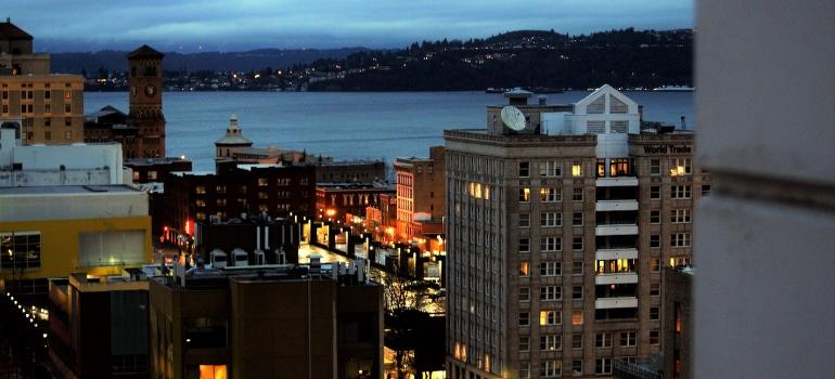 Tacoma at night