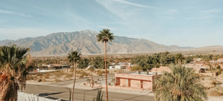 Beautiful landscape of Palm Springs in California.
