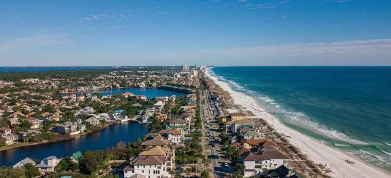 Aerial view of some city in Florida.