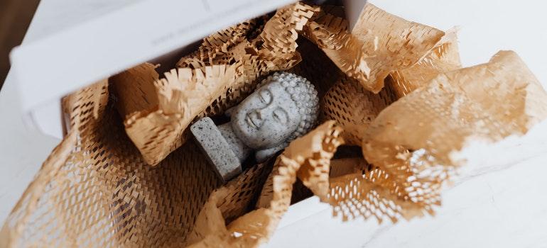 unpacked mini statue