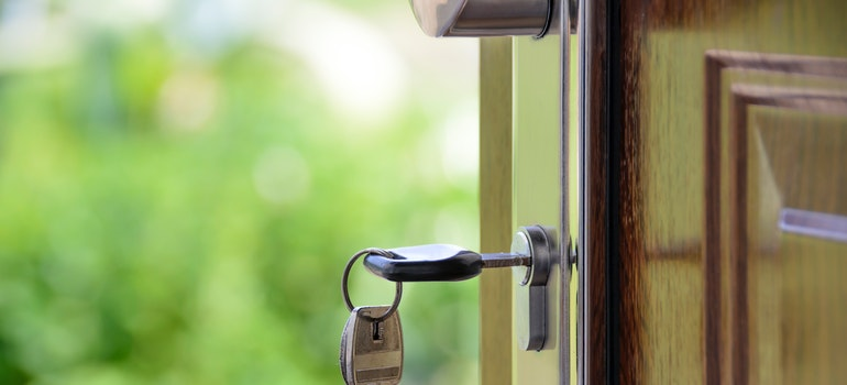 a lock with a key