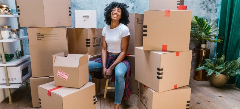 A woman ready for the move.