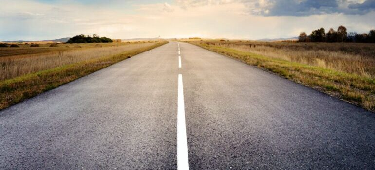 the road you need to cross when hiring long distance movers Winston-Salem